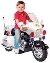 Kid Motorz Patrol H. Police 12-Volt Motorcycle Ride-On in White