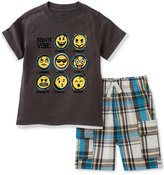 Kids Headquarters 2-Pc. Cotton Today's Vibe T-Shirt & Shorts Set, Baby Boys (0-24 Months)