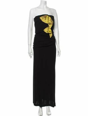 Christian Lacroix Strapless Long Dress Black