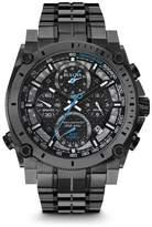 "Bulova Precisionist"" Men's Black Stainless Steel Chronograph Bracelet Watch"