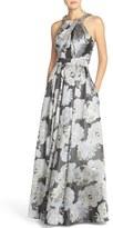 Eliza J Women's Embellished Floral Jacquard Ballgown