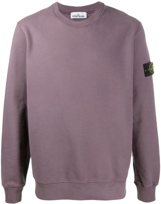 Stone Island Long-Sleeved Logo Patch Sweater