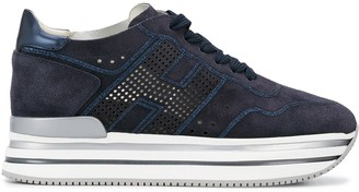 Hogan Platform Sole Low-Top Sneakers