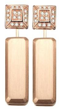 Sophia Diamond Earrings + Marilyn Rose Gold Earring Extenders