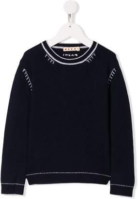Marni stitching detailed jumper