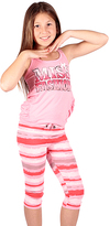 Pink & Coral 'Miss Fashion' Tank & Stripe Capri Leggings - Girls