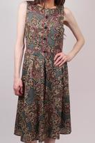 Aryeh Paisley Sage Dress