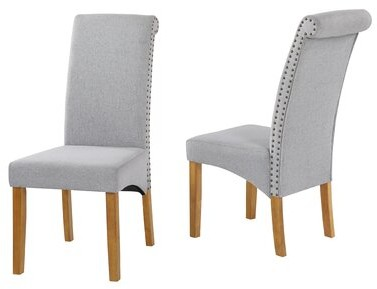 Red Barrel Studio Mcteer Tufted Upholstered Parsons Chair Color Gray Shopstyle