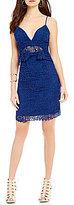 GUESS Solstice Popover V-Neck Lace Sheath Dress