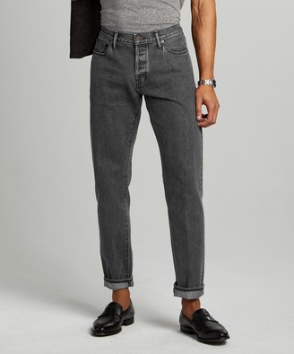 Todd Snyder Straight Fit Japanese Selvedge Jean in Concrete Wash
