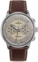 Junghans 027/3684.00 Meister Driver Chronoscope Leather Strap Watch, Brown/grey