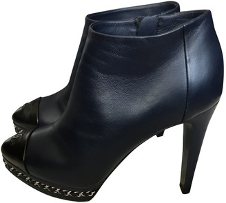 Chanel Black Leather Ankle boots