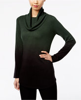 NY Collection Cowl-Neck Ombre Sweater