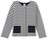 Petit Bateau Girls quilted cardigan
