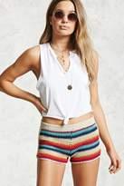 Forever 21 Striped Crochet Knit Shorts