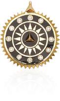 Foundrae Champleve Enamel Medium Black Pyramid Medallion
