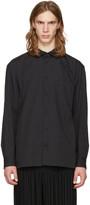 Issey Miyake Black Wrinkled Classic Shirt