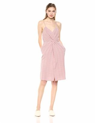 ASTR the Label Women's MAX Sleeveless Twist Front Short Aline Casual Dress