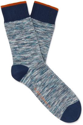 Nudie Jeans Rasmusson Melange Stretch Cotton-Blend Socks