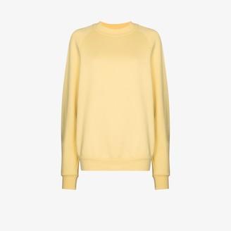 LES TIEN Crew Neck Cotton Sweatshirt