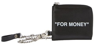 Off-White Quote wallet with chain