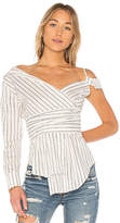 Nicholas Stripe Off Shoulder Blouse