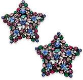 Kate Spade Black-Tone Crystal Star Stud Earrings