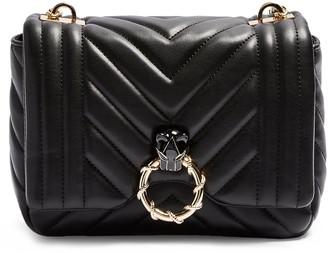 Topshop Carl Panther Faux Leather Shoulder Bag