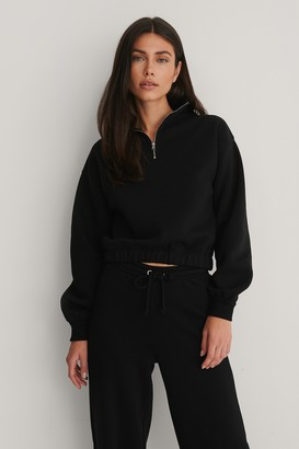 NA-KD Organic Front Zip Sweater