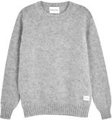 Mki Grey Brushed Shetland Wool Jumper