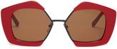 Marni Edge hexagonal-frame sunglasses