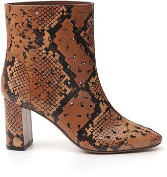 L'Autre Chose Animal Print Ankle Boots