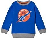 Lands' End Blue Rocket Glow in the Dark Sweatshirt