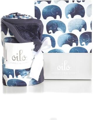 Oilo Elephant Crib Sheet & Cuddle Blanket Set