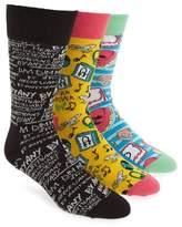 Happy Socks Men's Steve Aoki 3-Pack Socks Box Set