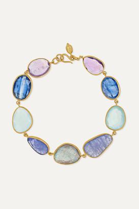 Pippa Small Pacific Blues 18-karat Gold Multi-stone Bracelet - one size