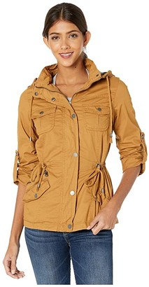 YMI Jeanswear Snobbish Jersey Lined Cotton Anorak (Fawn) Women's Clothing