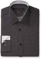 Sean John Men's Regular Fit Print Spread Collar Dress Shirt