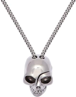 Alexander McQueen Divided Skull Charm Long Necklace