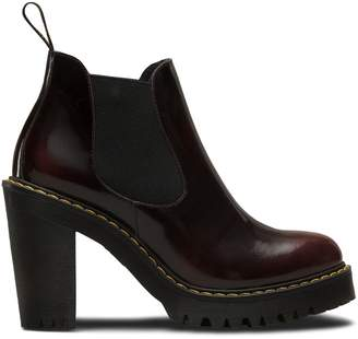 Dr. Martens Hurston Ankle Boots - Cherry Red