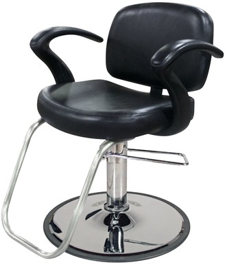 Jeff & Co. Cella Styling Chair with Chrome Base