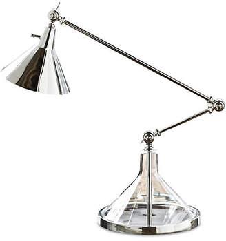REGINA ANDREW Glass Funnel Beaker Table Lamp - Nickel