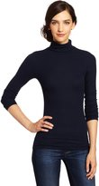 Three Dots Women's Long Sleeve Rib Turtleneck