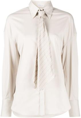Brunello Cucinelli Loose Fit Oxford Shirt