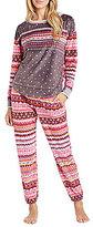 Kensie Fair Isle Microfleece Pajamas