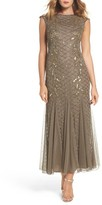 Pisarro Nights Women's Flame Motif Embellished Gown