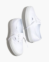Madewell Vans Unisex Authentic Lace-Up Sneakers in White Canvas