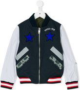 Diesel star patch bomber jacket - kids - Cotton/Nylon/Polyester/Spandex/Elastane - 12 yrs
