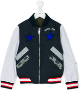 Diesel star patch bomber jacket - kids - Cotton/Nylon/Polyester/Spandex/Elastane - 6 yrs