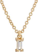 Ileana Makri Women's Baguette White Diamond Pendant Necklace-GOLD